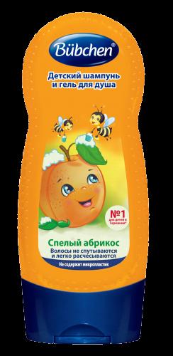 """BU4 Шампунь """"Спелый Абрикос"""" 230 мл для мытья волос и тела для детей"""